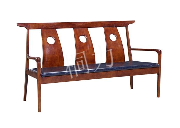 中式三位沙发